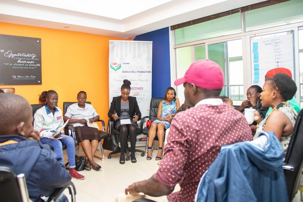 PSYCHOSOCIAL SUPPORT and COUNSELLING SESSIONS- Joanne Chazima Sickle Cell Foundation 4