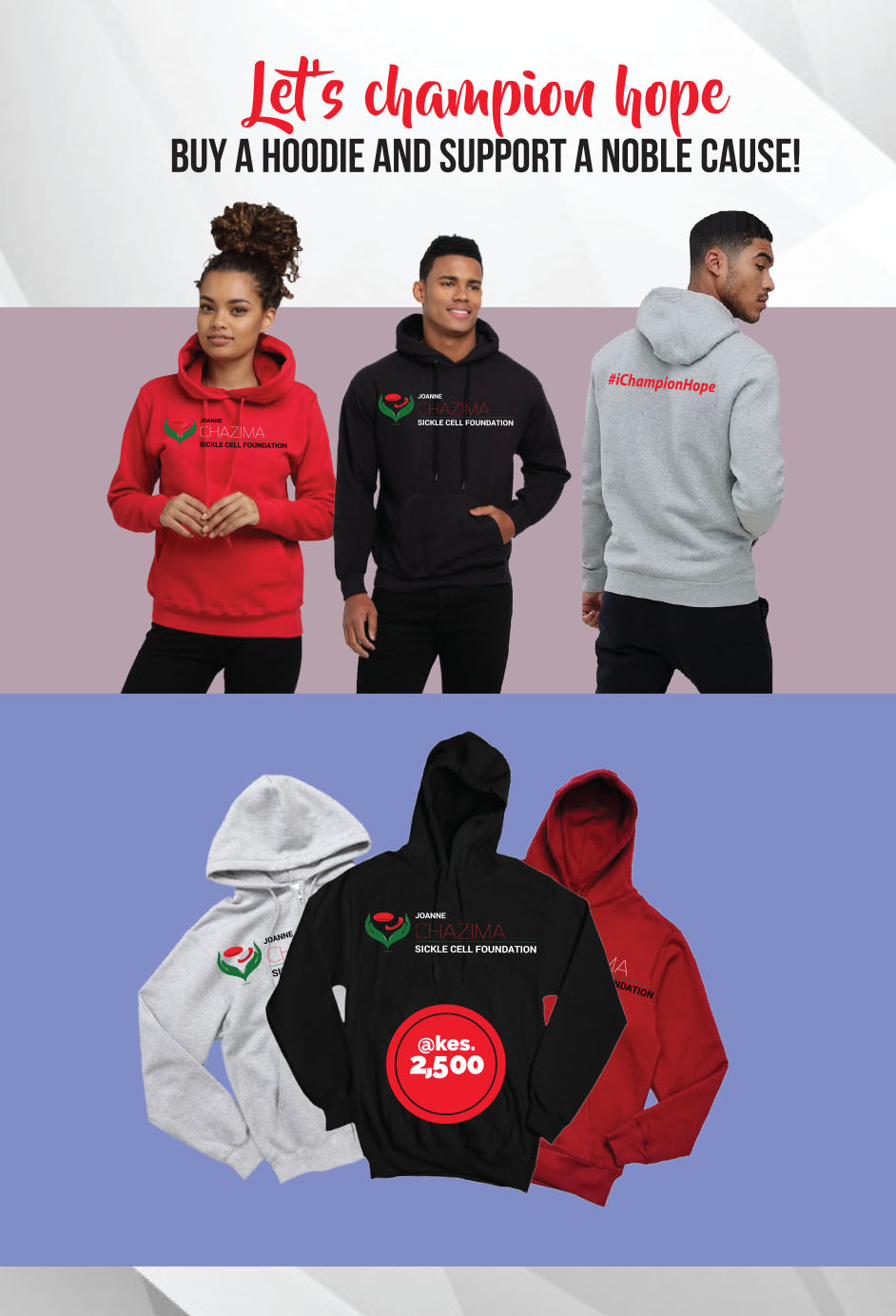 Joanne Chazima Sickle Cell Foundation -Hoodies