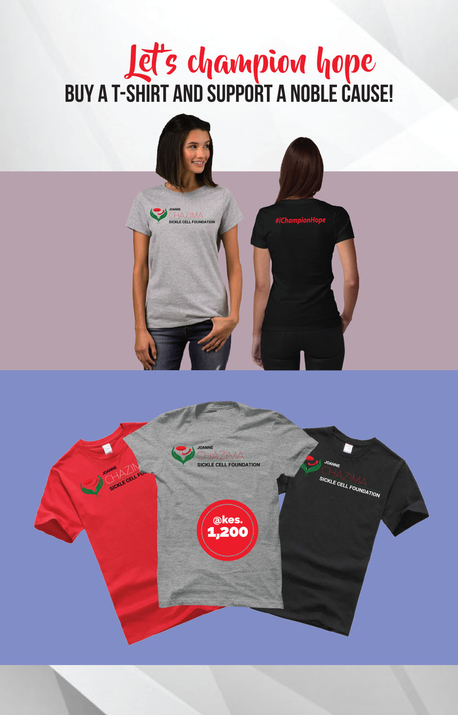 Joanne Chazima Sickle Cell Foundation -T-SHirt